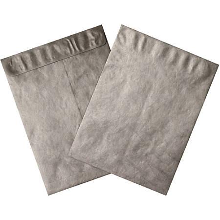 """Office Depot® Brand Tyvek® Envelopes, 9"""" x 12"""", Silver, Pack Of 100"""