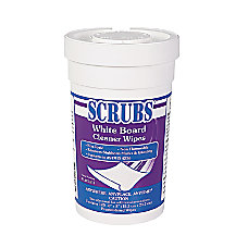SCRUBS Whiteboard Cleaner Wipes Wipe Clean