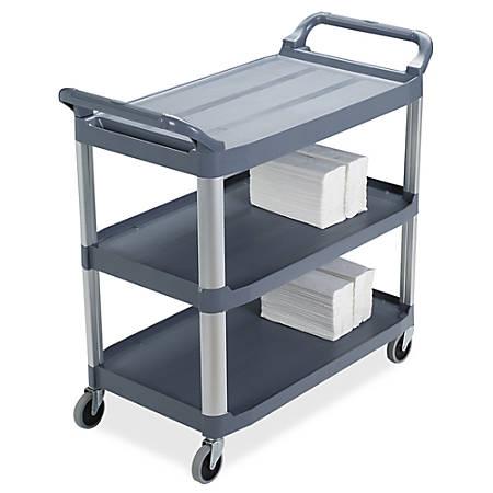"Rubbermaid Xtra Utility Cart, 37 4/5""H x 40 3/5""W x 20""D, Gray"