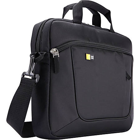 """Case Logic Carrying Case for 14.1"""" Notebook - Black - Polyester - Luggage Strap, Shoulder Strap, Handle - 11.4"""" Height x 14.6"""" Width x 2.8"""" Depth"""