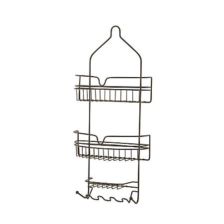 """Honey-Can-Do Shower Caddy, 24 1/2""""H x 11""""W x 4 1/4""""D, Oil-Rubbed Bronze"""