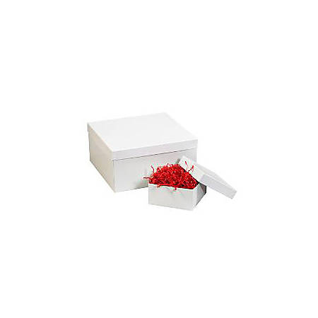 """Partners Brand White Deluxe Gift Box Bottoms 19"""" x 12"""" x 6"""", Case of 50"""