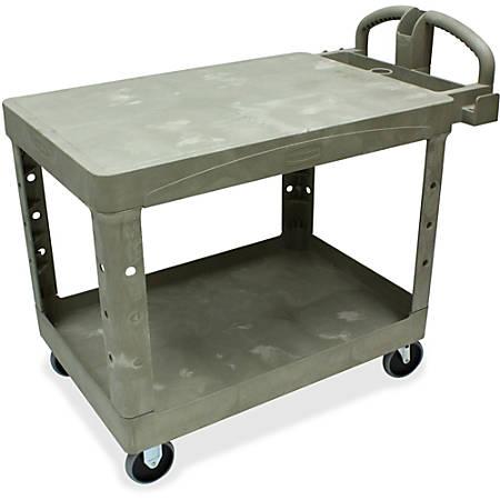 "Rubbermaid Flat-Shelf Utility Cart, 33""H x 44""W x 26""D, Beige"