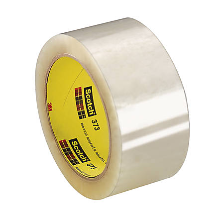 "3M® 373 Carton Sealing Tape, 2"" x 110 Yd., Clear, Case Of 36"