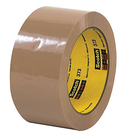 """3M® 373 Carton Sealing Tape, 2"""" x 110 Yd., Tan, Case Of 36"""
