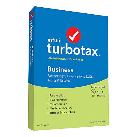 TurboTax® 2019, Business Federal Efile, For PC