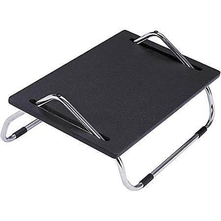 """Safco® Adjustable Footrest, 8"""" Height, Black/Silver"""