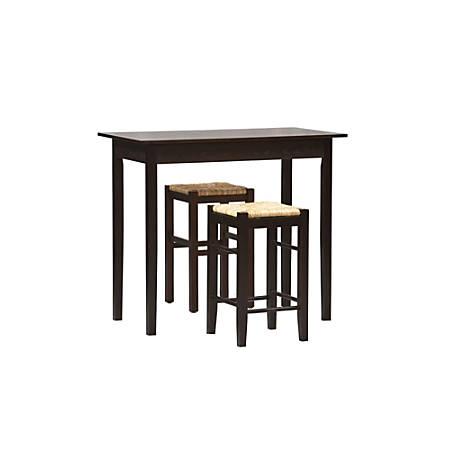 Linon Home Tavern 3-Piece Counter Set, Espresso/Natural