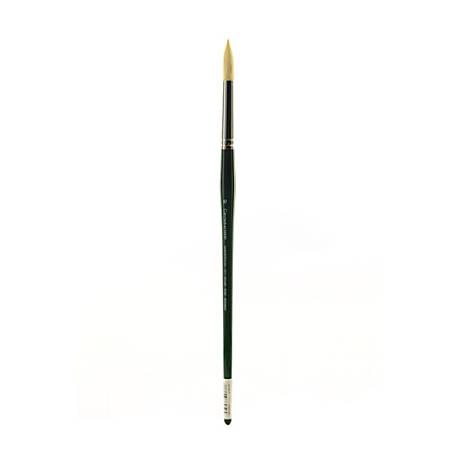 Grumbacher Gainsborough Oil And Acrylic Paint Brush, Size 10, Round Bristle, Hog Hair, Black