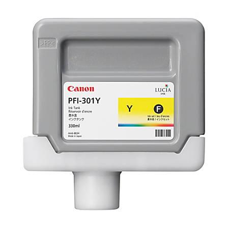 Canon InkJet PFI-301Y Yellow Ink Cartridge (1489B001AA)