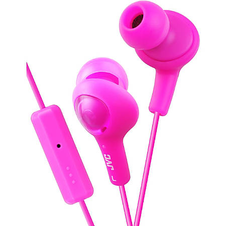 JVC Gumy Plus Earset - Stereo - Mini-phone - Wired - 16 Ohm - 10 Hz - 20 kHz - Earbud - Binaural - In-ear - 3.28 ft Cable - Pink