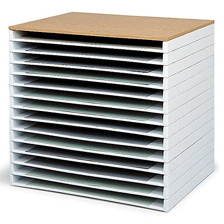 "Safco® Giant Stack Trays, 3""H x 39""W x 26""D, White, Pack Of 2"