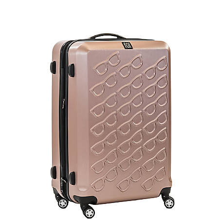"ful Sunglasses ABS Upright Rolling Suitcase, 25""H x 17 3/8""W x 11""D, Gold"