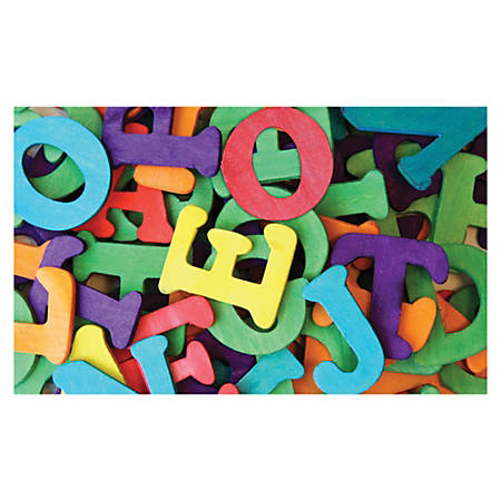 "Pacon 1-1/2"" Wooden Capital Letters - (Capital Letters) Shape - Durable - 1.50"" Height - Assorted - Wood - 104 / Pack"