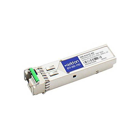 AddOn Calix 100-01673 Compatible TAA Compliant 1000Base-BX SFP Transceiver (SMF, 1490nmTx/1310nmRx, 60km, LC, Rugged)