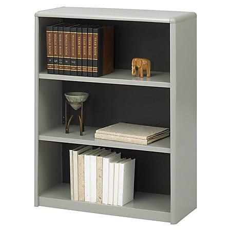 Safco® Value Mate® Steel Bookcase, 3 Shelves, Gray