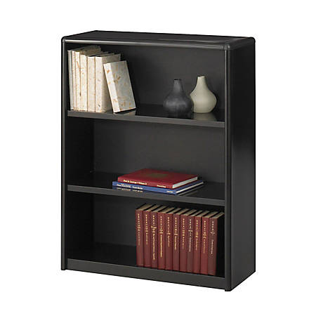 Safco® Value Mate® Steel Bookcase, 3 Shelves, Black