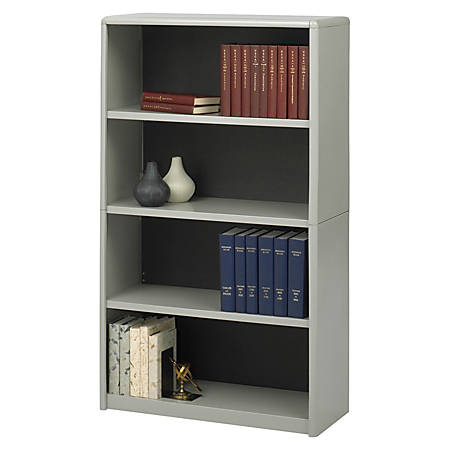 Safco® Value Mate® Steel Bookcase, 4 Shelves, Gray