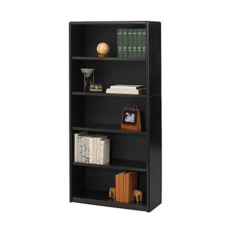 Safco® Value Mate® Steel Bookcase, 5 Shelves, Black
