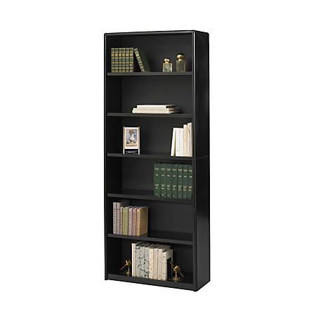 Safco® Value Mate® Steel Bookcase, 6 Shelves, Black