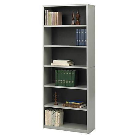 Safco® Value Mate® Steel Bookcase, 6 Shelves, Gray