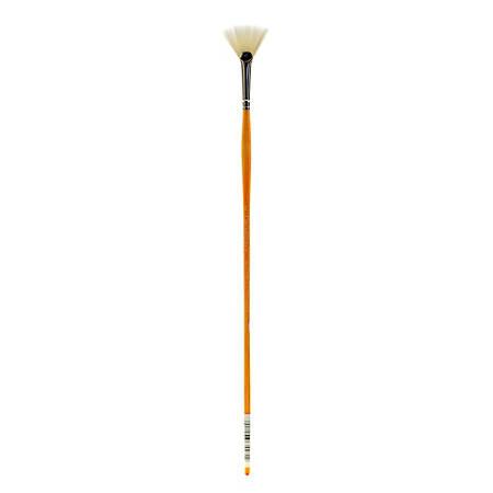 Grumbacher Bristlette Paint Brush, Size 2, Fan Bristle, Synthetic, Brown