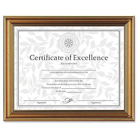 Dax Burns Group Antique colored Certificate Frame 11 x 8.50 Frame ...