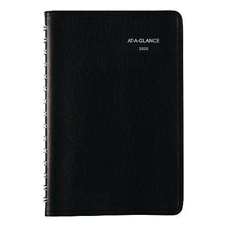 "AT-A-GLANCE® DayMinder® Daily Planner, 5-1/2"" x 8-1/2"", Black, January To December 2020, SK4400"