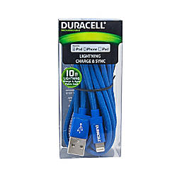 Duracell Fabric Lightning Cable 10 Blue