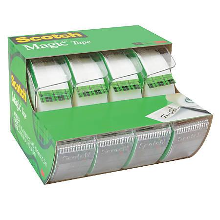"""Scotch® Magic™ Tape In Dispensers, 3/4"""" x 850"""", Pack Of 4"""