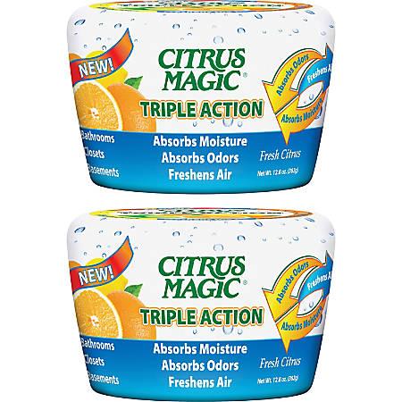 Citrus Magic Triple Action Air Freshener - 12.8 fl oz (0.4 quart) - Fresh Citrus - 2 / Pack - Odor Neutralizer