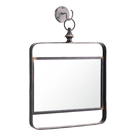 Zuo Modern Square 1 Mirror, Black