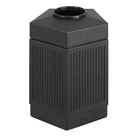 Safco® Canmeleon™ Indoor/Outdoor Pentagon Receptacle, 45 Gallons, Black