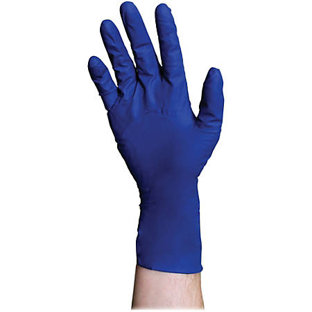 DiversaMed 8 mil ProGuard High-Risk EMS Exam Gloves - Medium Size - Latex - Blue - Beaded Cuff, Disposable, Powder-free, Non-sterile, Liquid Resistant, Heavyweight - For Construction, Medical, Laboratory Application - 500 / Carton