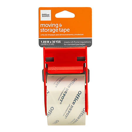 """Office Depot® Brand Moving & Shipping Tape With Dispenser, 1.89"""" x 30 Yd., Clear"""