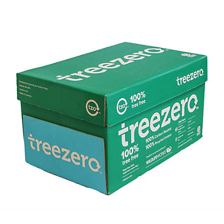 TreeZero Multipurpose Sugarcane Paper, Letter Size Paper, 20 Lb, 500 Sheets Per Ream, Case Of 10 Reams