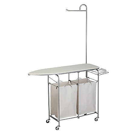 Honey-Can-Do Foldable Laundry Center, Natural/Silver