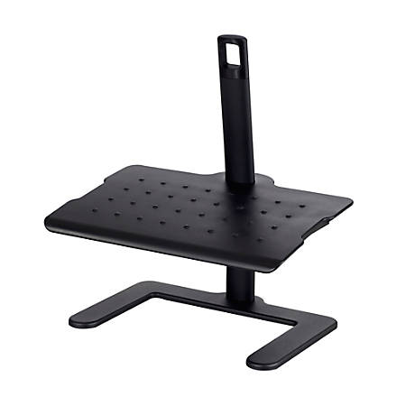 "Safco® Height Adjustable Footrest, 21 1/2""H x 20 1/2""W x 14 1/2""D, Black"