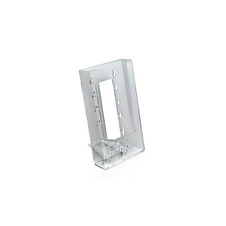 "Azar Displays 1-Pocket Crystal Styrene Modular Brochure Holders, 7 3/4""H x 4 1/2""W x 3 1/2""D, Clear, Pack Of 10"