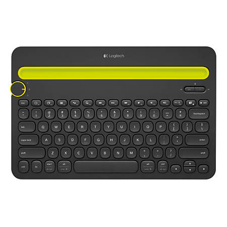 Logitech® K480 Bluetooth® Wireless Multi-Device Keyboard For PC And Apple® Mac®, Black