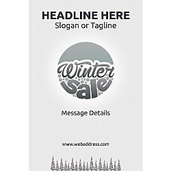 Adhesive Sign Pine Trees in Winter