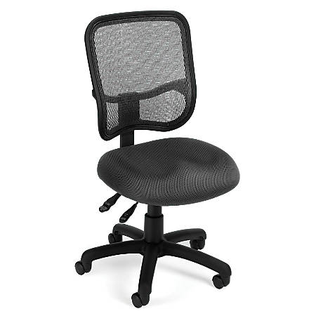 OFM Mesh Comfort Series Fabric Mid-Back Ergonomic Task Chair, Gray/Black