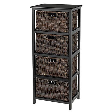 Reale 4 Drawer Wood Storage Cabinet