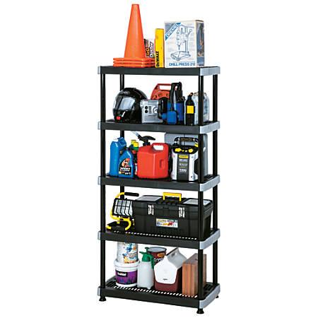 Rimax Heavy-Duty Storage Shelves, 5 Tiers, Black
