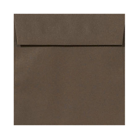 """LUX Square Envelopes With Peel & Press Closure, 5 1/2"""" x 5 1/2"""", Chocolate Brown, Pack Of 500"""