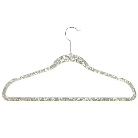 "Honey-Can-Do Velvet Touch Suit Hangers, 9 1/2""H x 1/4""W x 17 3/4""D, Gray, Pack Of 20"