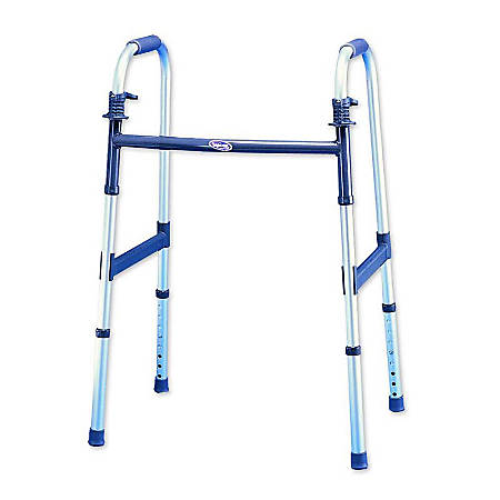 "Invacare® I-Class™ Dual-Release Paddle Folding Walker, Single Pack, Fits Users 5'3""-6'4"""