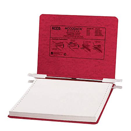 Wilson Jones® Presstex® Pressboard Data Binder, Moisture-Resistant, 41% Recycled, Red