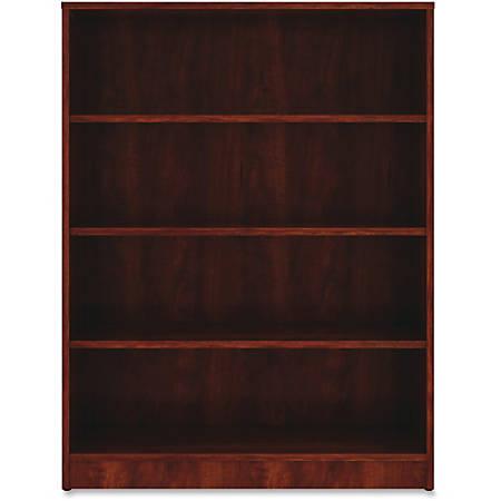 "Lorell® Laminate Bookcase, 4-Shelf, 48""H, Cherry"