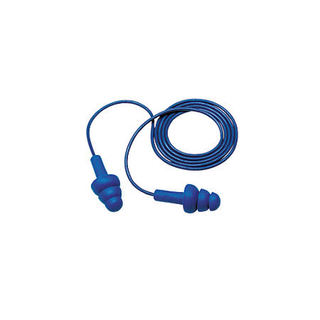 3M E-A-R Ultrafit Corded Ear Plugs, Blue, Box Of 200